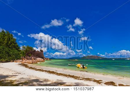 Tropical island at Seychelles - nature background