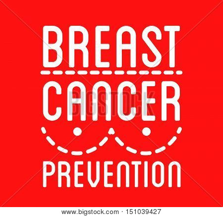 Breast Cancer Awareness logo. Vector ribbon and cancer prevention sign for banner and social poster and stickers. Isolated.
