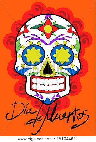 Day of the Dead celebration. Traditional Mexican Festive concept vector illustration. Day of the Dead concept. Mexican traditional festival. Day of the Dead poster.
