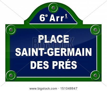 Illustration of french design sign in paris