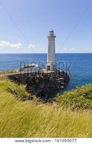 The lighthouse at Vieux-Fort, Guadeloupe