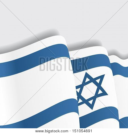Israeli waving Flag. Vector illustration Eps 8