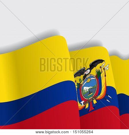Ecuadorian waving Flag. Vector illustration Eps 8
