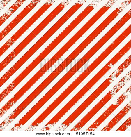 Vector grunge background with red stripes on white background