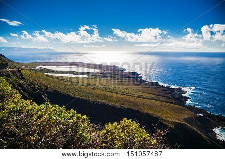 beautiful northern coast of Tenerife near Buenavista del Norte Canary Islands Spain
