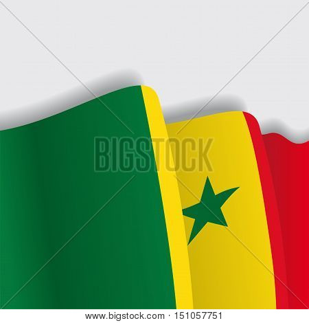 Senegalese waving Flag. Vector illustration Eps 8