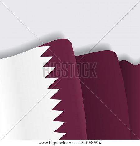 Qatari waving Flag. Vector illustration Eps 8