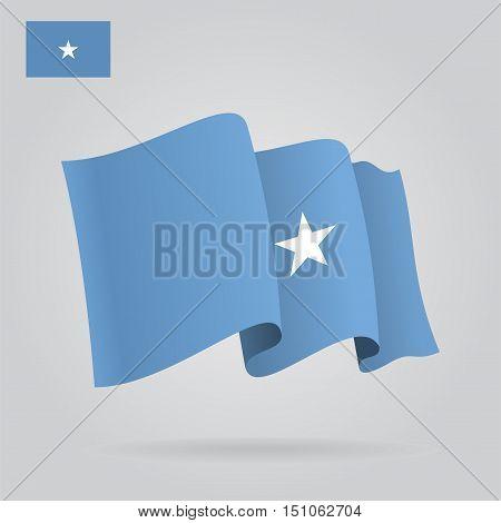 Somalian waving Flag. Vector illustration Eps 8