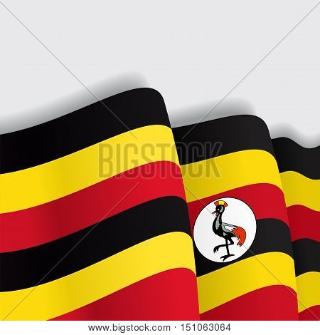 Ugandan waving Flag. Vector illustration Eps 8