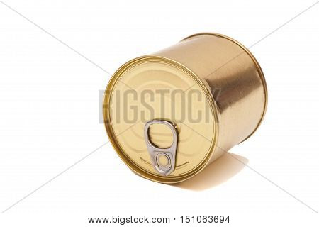 Tin can conserve metallic over white background