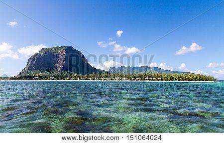 Le Morne Brabant Mauritius With Sea Panoramic