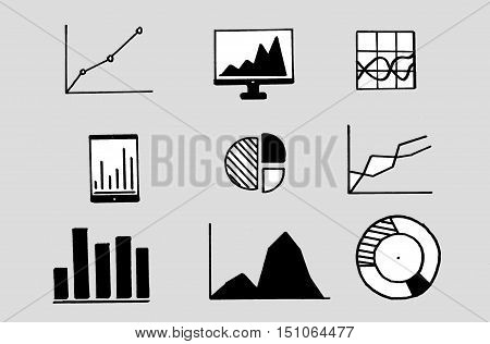 infographics collection business graph chart graph ecomomic finance elements.