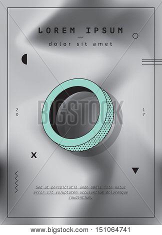 Modern design for poster, business card, invitation or banner