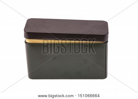 Small Metal box isolated on a white background