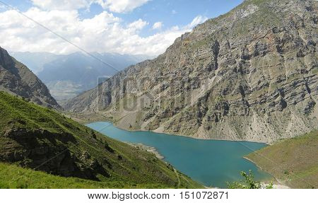 Lake Badak in July. The Western Tien-Shan. Uzbekistan.