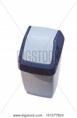 Garbage bin isolated on white background .