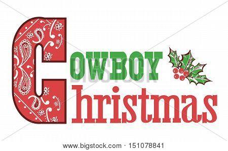 Cowboy Christmas Text