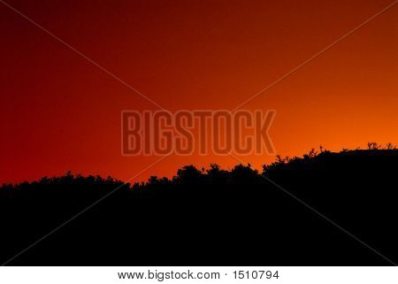 Sunset Sillouette Background