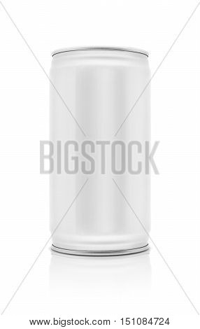 blank packaging beverage aluminum can isolated on white background