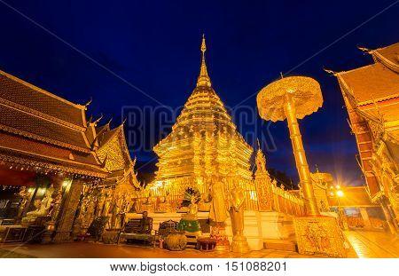 Wat Phra That Doi Suthep Popular historical temple in Thailand