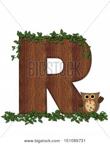 Alphabet Deep Woods Owl R