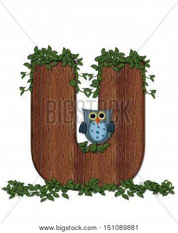 Alphabet Deep Woods Owl U