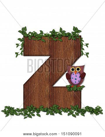 Alphabet Deep Woods Owl Z