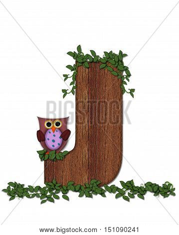 Alphabet Deep Woods Owl J