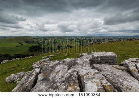 A view from Wolfscote Hill in the Peak District Derbyshire