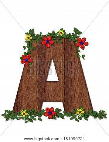 Alphabet Woodland Flowers A