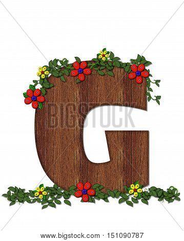 Alphabet Woodland Flowers G