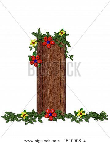 Alphabet Woodland Flowers I