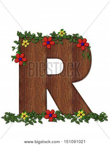 Alphabet Woodland Flowers R