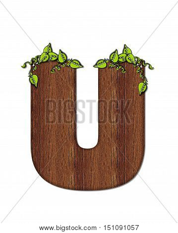 Alphabet Woodsy U