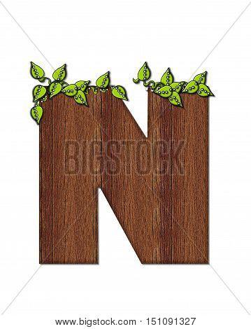 Alphabet Woodsy N