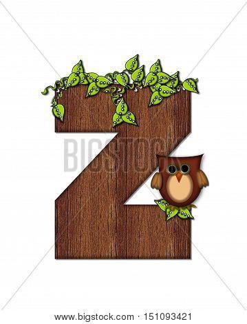 Alphabet Woodsy Owl Z