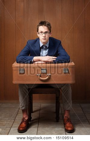 Serious Man With Suitcase