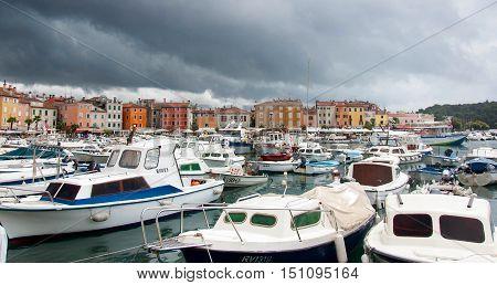 Amazing city of Rovigno at the Adriatic sea Croatia