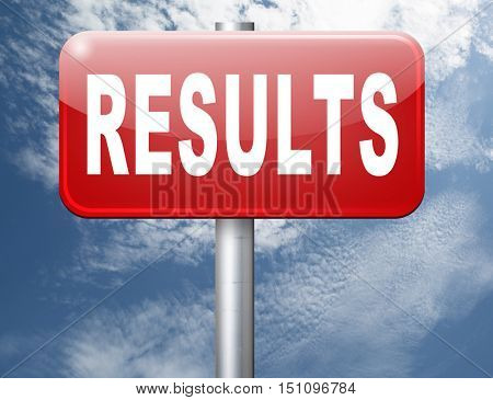 results and succeed business success be a winner in business elections pop poll or sports market result or market report business result business report election results 3D illustration