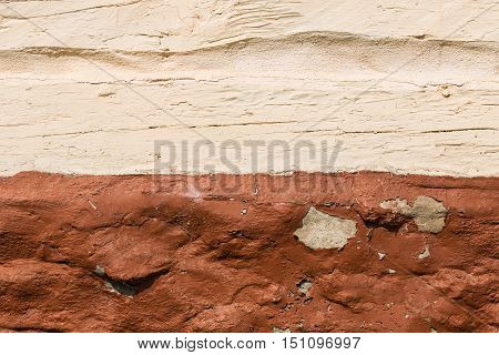 the structure of the plaster in light and dark brown