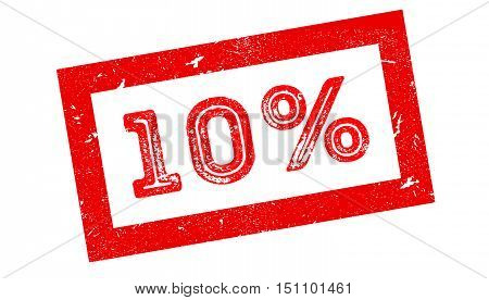10 Percent Rubber Stamp