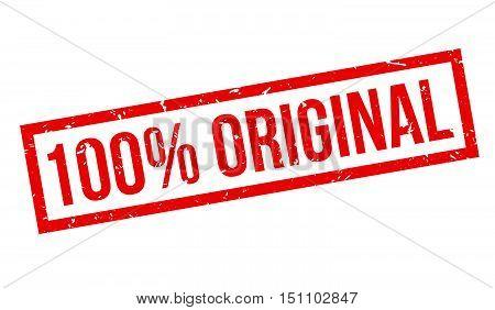 100 Percent Original Rubber Stamp