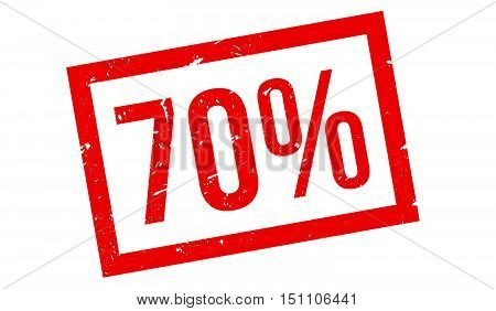 70 Percent Rubber Stamp