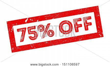 75 Percent Off Rubber Stamp