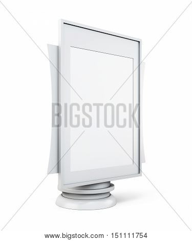 Mock Up Lightbox Isolated On White Background. 3D Rendering