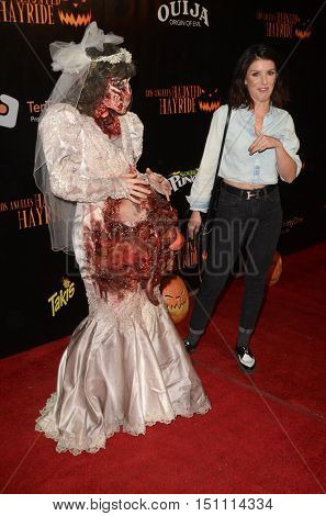 LOS ANGELES - OCT 9:  Shenae Grimes at the Haunted Hayride 8th Annual VIP Black Carpet Event at the Griffith Park on October 9, 2016 in Los Angeles, CA