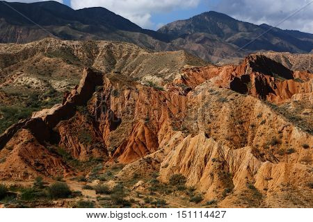 nature, landscape, landscape, mountain clay, mountain, crane mountain, clay, clay, tale, Kyrgyzstan