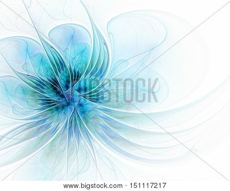 Abstract fractal flower computer-generated image. illustration. background