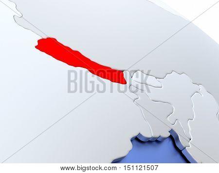 Nepal On World Map