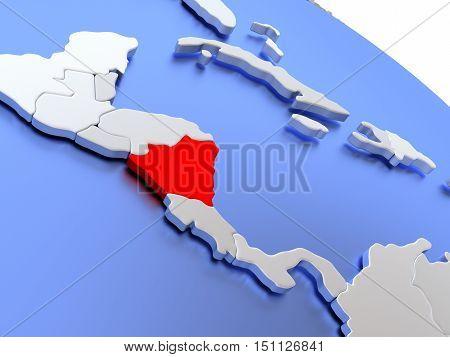 Nicaragua On World Map
